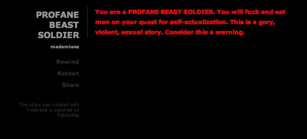 profane beast soldier